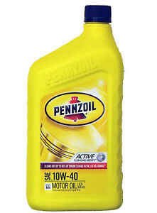 Pennzoil 10W-40 Mineral Engine Oil US Quart