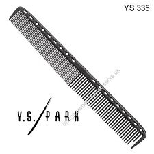 Y S Park Comb YS - 335 BLACK Carbon Hairdressing High Quality Cutting Comb