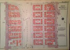 1955 HARLEM WEST 116-122ND STREET MANHATTAN NY G.W. BROMLEY PLAT ATLAS MAP 12X17
