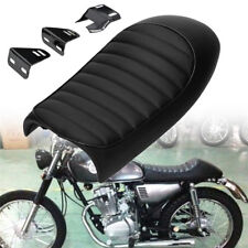 Black Cafe Racer Motorcycle Seat Hump Cushion For Suzuki Honda Custom Universal