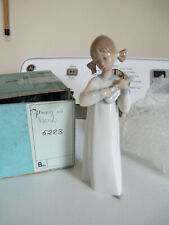 Lladro Girl in Pigtails with lute/mandolin signed