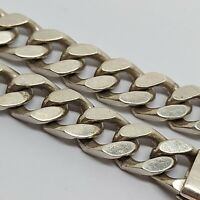 "Sterling silver solid 925 bracelet chain bangle Az970-29 7"" heavy  mens curb"