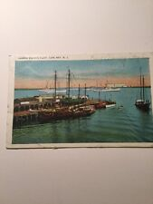 Old Postcard Harbor Fishing Fleet Cap May New Jersey Historical Vintage South