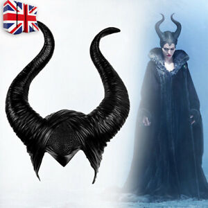 Halloween Hat Horns Cosplay Maleficent Evil Queen Headpiece Headwear Costume E