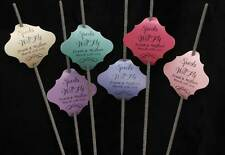 36pc Custom Persoalize - Wedding Sparklers Tags - Matalic Shimmer Paper
