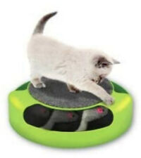 Turntable Rotating Automatic Mouse Spinning Cat Toy With Scratch Pad New