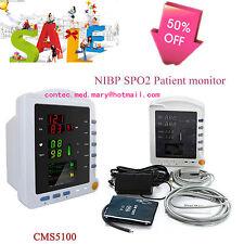 CONTEC Medical CMS5100 Patient Monitor w/ NIBP SPO2 Blood Oxygen Pulse Rate,HOT