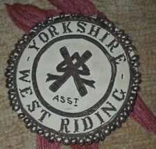 vintage masonic lambskin badge