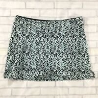 Tranquility Womens Shorts sz Large LIght Blue Black Stretch Skorts Skirt Pull On