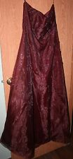 Party Dress with Sequins, lace up back, Size 14, Strapless