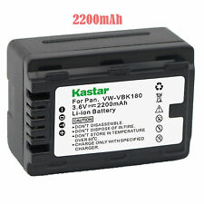 1x Kastar Battery for Panasonic VW-VBK180 HC-V10 HC-V100 HC-V100M HC-V500 V500M