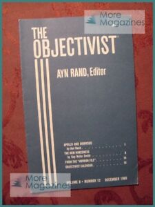 Ayn Rand THE OBJECTIVIST December 1969 Apollo and Dionysus Kay Nolte Smith