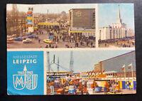 1965 Leipzig East Germany DDR Postcard Cover FDC International City Fair