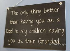 Dad Children Grandad Father Sign Kids Chic Shabby Cute Wooden Rustic Home Decor