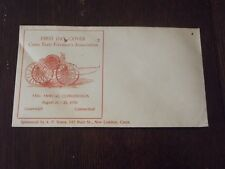 Vintage 1936 CONNECTICUT  STATE FIREMEN'S ASSOCIATION FIRST DAY COVER