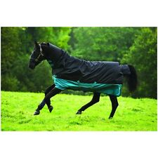 Mio All in One 200g Medium Unisex Horse Rug Turnout - Black Turquoise All Sizes 6ft6
