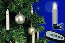 10 kabellose LED-Weihnachtskerzen innen/außen Kerzen mit Fernbedienung Baumkerze