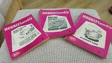 HOBBIES WEEKLY MAGAZINES bundle from 1962 - 43 Magazines, 10 design plans