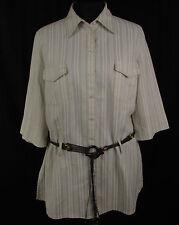 Klassische 3/4 Arm Damenblusen, - tops & -shirts aus Leinen für Business-Anlässe