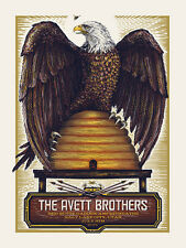 THE AVETT BROTHERS EAGLE CONCERT POSTER LIMITED EDITION SCREEN PRINT BY ZEB LOVE