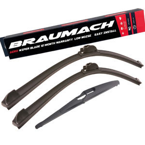 Front Rear Wiper Blades for Peugeot 407 6E SW 2.7 HDi 2005-2011