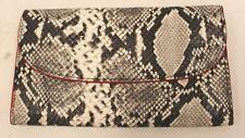 Boden Women's Snake Print Embossed Leather Purse HD3 Grey A0436-SNK One Size