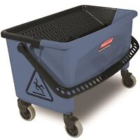 RUBBERMAID® COMMERCIAL FINISH BUCKET, WITH LID, FOR MICROFIBER FLAT MOP, BLUE