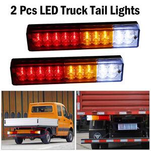 2X LED Tail Lights Car Truck Trailer Stop Rear Reverse Turn Indicator Lamp Light
