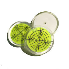 40mm x 10mm Green Leveller Disc Bubble Spirit Level Round Circular Bullseye UK