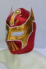 125.-ADULT SIN CARA RED Foamy Wrestling Mask Adulto Size Wrestler Costume