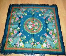 Unique, Antique Vintage Chinese Silk Embroidered Embroidery Tablecloth! 1960's