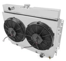 "1964-1967 Chevelle 4 Row Aluminum Radiator, Fan Shroud & 2-12"" Fans - DPI# 289"