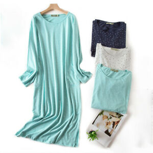 Casual Nights Women's Long Sleeve Floral Fancy Night Gown 100% Cotton Sleepshirt