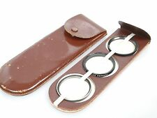 Lederfilterbehälter Transporttasche für for Filters bis 42mm Leather filter case