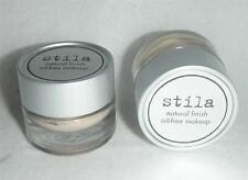 Stila Natural Finish Oil-Free Foundation Shade H Lot of 2 trial size