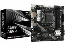 ASRock B450M-PRO4-F micro ATX Socket AM4 AMD B450 90-MXBAB0-A0UAYZ Motherboard