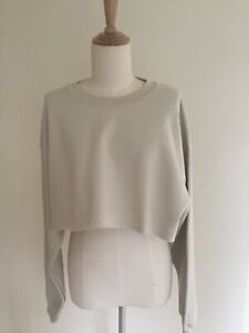 PRETTYLITTLETHING Sand Ultimate Cropped Sweater, Brand New With Tags, Size M