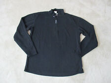 VINTAGE The North Face Quarter Zip Sweater Adult Large Black Made USA Mens 90s