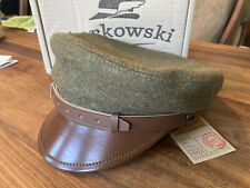 Sterkowski MACIEJOWKA MODEL 1 58cm  Large Fiddler Cap Green Wool Leather Band