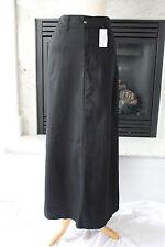 KOSHER CASUAL NEW Long Black A-Line Cotton CUTE Modest Maxi Skirt M