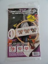 Vogart Crafts Countless Pre Printed Canvas Cross Stitch Kit - Butterflys