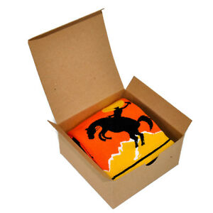 Mens Socks Gift Box Rodeo Western Cowboy Horse Ride Themed Patterned Fun