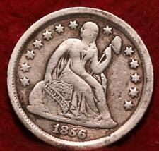 1856 Silver Philadelphia Mint Seated Liberty Dime