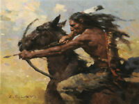 """Hot Chase"" Z. S. Liang Smallwork Edition Fine Art Giclee Canvas"