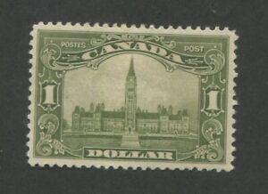 1929 Canada Parliament Building $1 Postage Stamp #159 Mint Hinged Original Gum