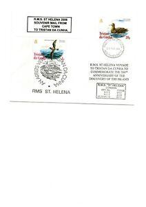 TRISTAN DA CUNHA RMS ST HELENA SHIP COVER 2006