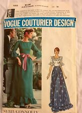 Vintage 70s Vogue Couturier 1055 Sybil Connolly DRESS Sewing Pattern 14 UNCUT