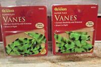 """NEW Allen  2"""" Super Flex Vanes  2 Packs 12 green camo"""