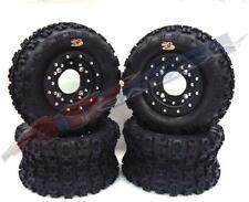 Hiper CF1 Beadlock Wheels GBC XC Master Tires Front/Rear Kit Yamaha Banshee 350