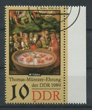DDR ABART 3270 DD MÜNTZER 1989 DOPPELDRUCK!! ERROR DOUBLE PRINT!!! a5396